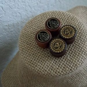 Jewelry - 14mm [9/16th] Wood Design Plugs